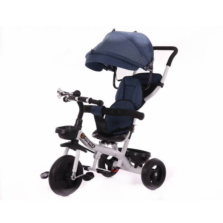 Factory wholesale mickey mouse baby tricycle price/multifunction 3 in 1 baby tricycle/oem smart trike kids stroller taga bike