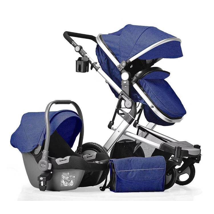 3in1 germany baby pram stroller with cheap price/ new born baby pram 3in 1/baby car seat pram with accessories