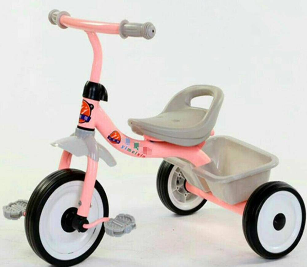 Factory of three wheel push bicycle for baby /baby tricycle with UCP bright wheel