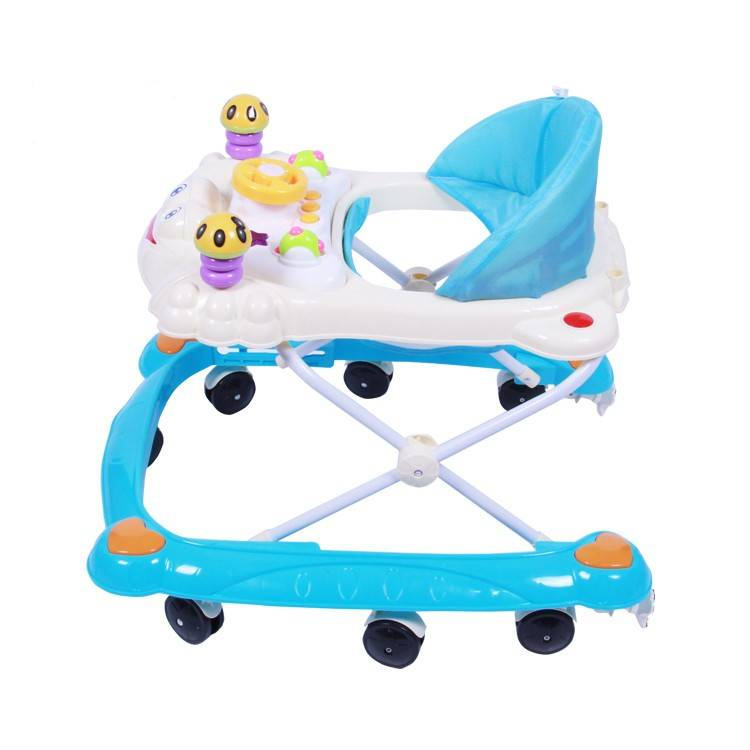 8 wheels plastic with music Rolling Baby strollers wholesale/new model baby walker with high quality/old fashioned baby walkers