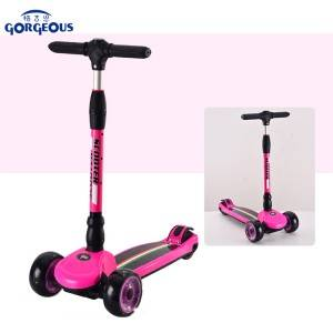 Wholesale high quality kids luggage scooter kids 3 wheel PU wheel with light for sale