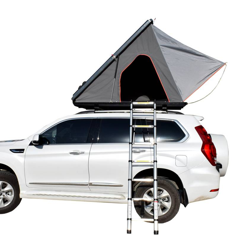 New design triangle roof hard shell 2 person aluminum car roof top tent Featured Image
