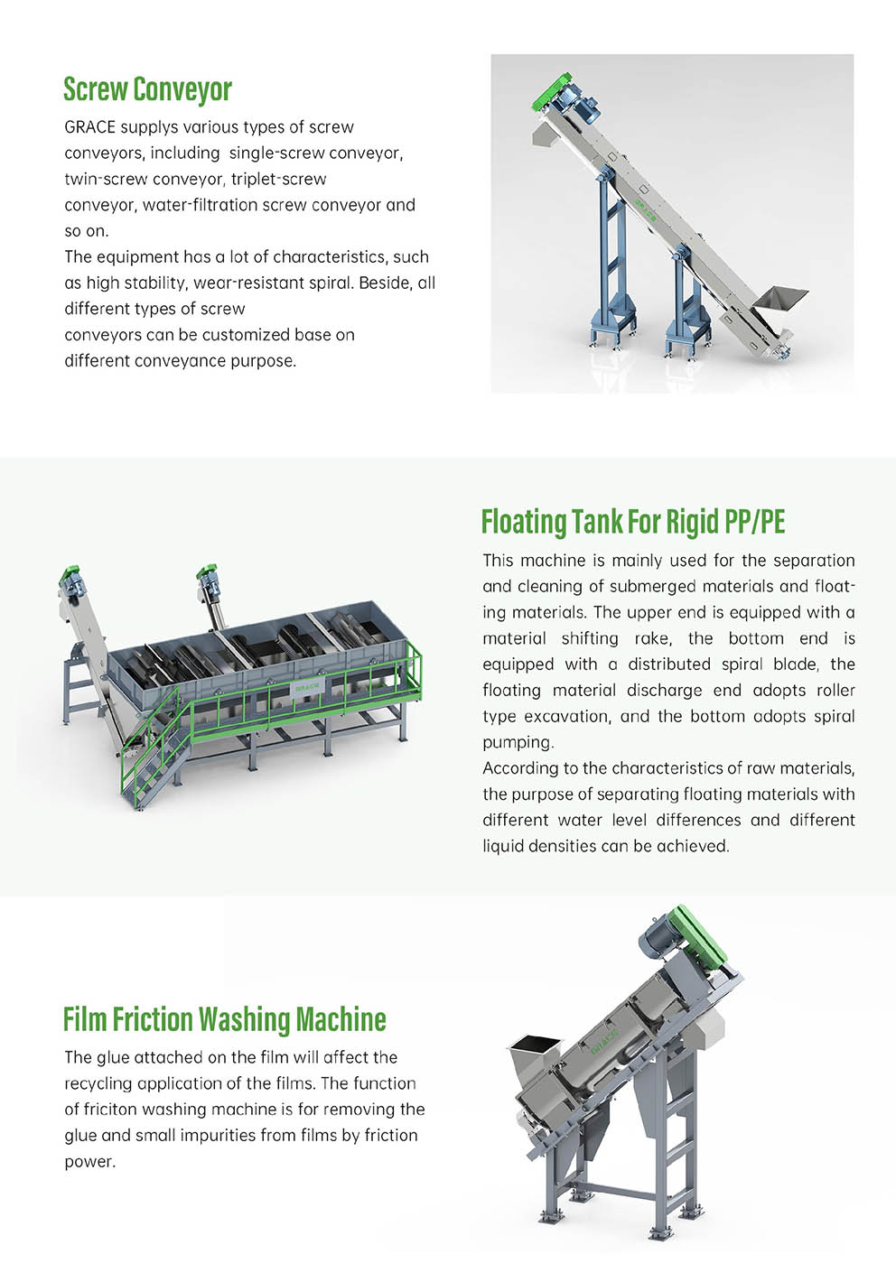 PEPP Rigid Flakes And Film Materials Washing Line5