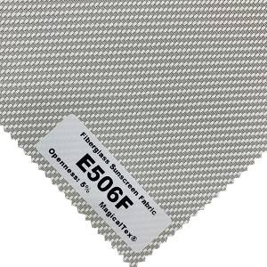 China Eco-friendly Fiberglass Sunscreen Fabric 5% Openness