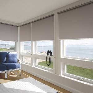 Eco-friendly Antibacterial Blackout Fiberglass Fabric For Roller Blinds