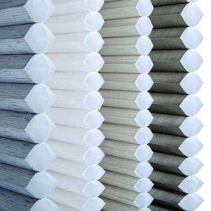 Energy Efficient Stripe Cellular Shades Fabric For Home