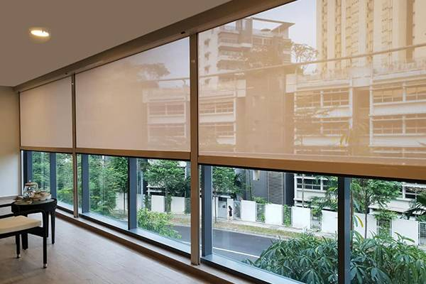 Zip Track Motorized Outdoor Blinds is popular with our Clients in South Aisa