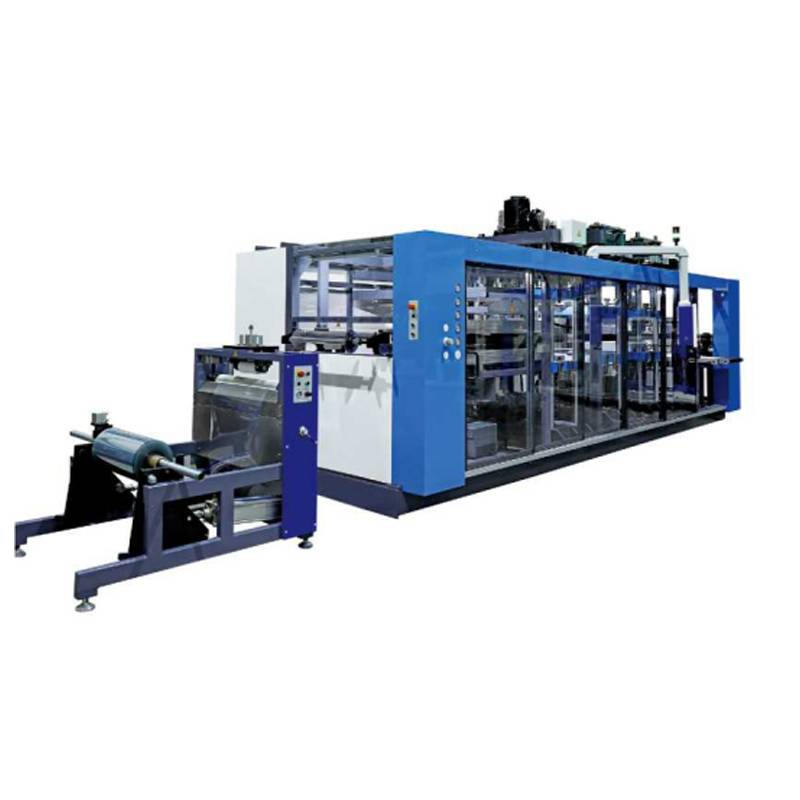 Four Stations Large PP Plastic Thermoforming Machine
