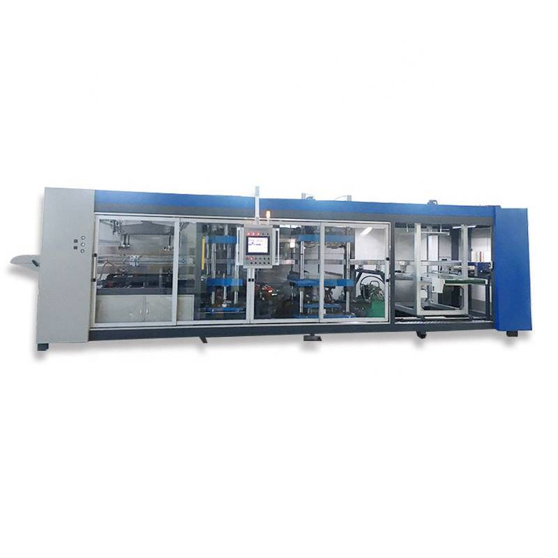 Three Stations Plastic Lid Thermoforming Machine