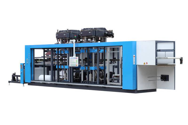 Three Station Fully Automatic Plastic Cup Thermoforming Machine