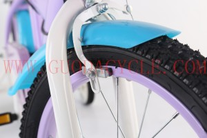 GD-KB-004: Purple princess bike with basket, purple kids bike, girls' bike, pretty girls' bike