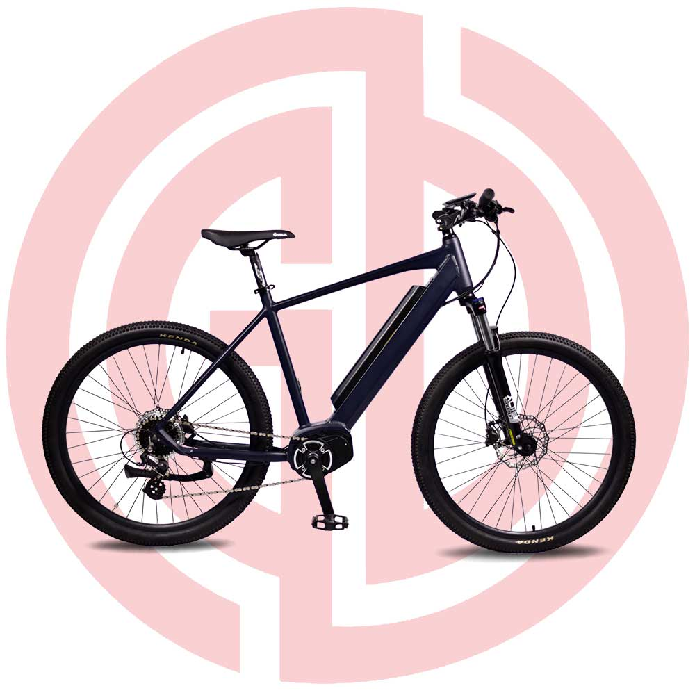 GD-EMB-016:Electric mountain bicycle, 27.5 Inch, LED meter, middle mounted motor, built-in battery Featured Image