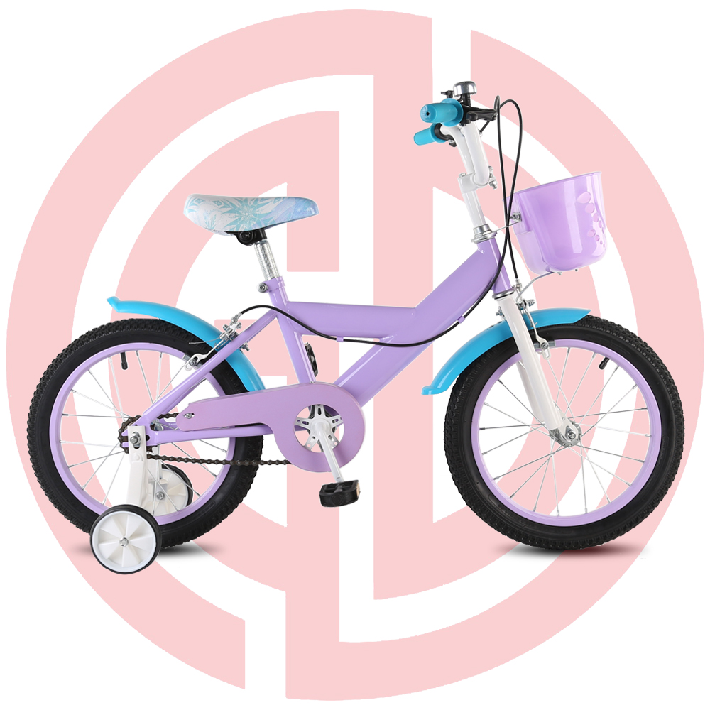 GD-KB-004: Purple princess bike with basket, purple kids bike, girls' bike, pretty girls' bike Featured Image
