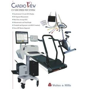 Bluetooth Stress Electrocardiogram Test equipment with treadmill and ergometers iCV1200
