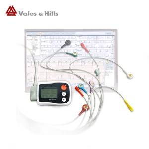 LCD Display Screen Holter Monitor And ECG Analysis Software 24 Hours Record Time