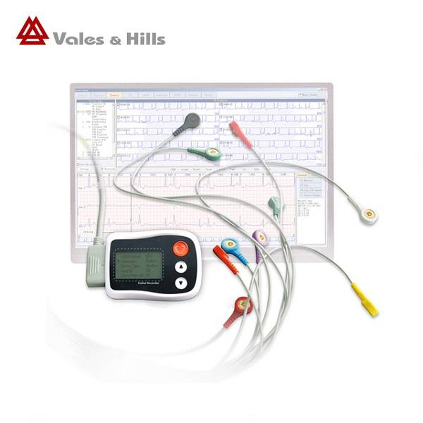 LCD Display Screen Holter Monitor And ECG Analysis Software 24 Hours Record Time Featured Image