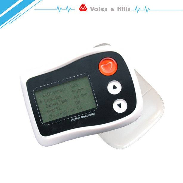 Hand Held White Color Holter Monitor Software‎ For 12 Lead Medical Holter Recorder