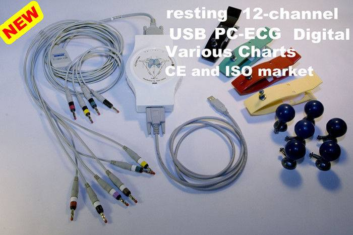 Resting PC Based ECG Portable electrocardiogram equipment For Medical