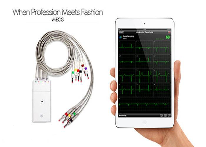 Heart ECG Test Bluetooth Electrocardiogram Equipment For IOS System
