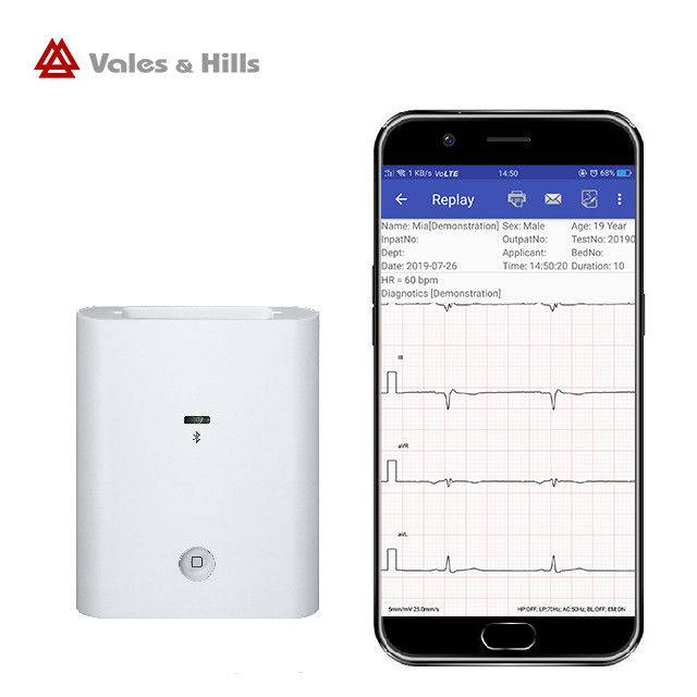 White small Acquisition Box Android system Bluetooth Resting ECG Machine