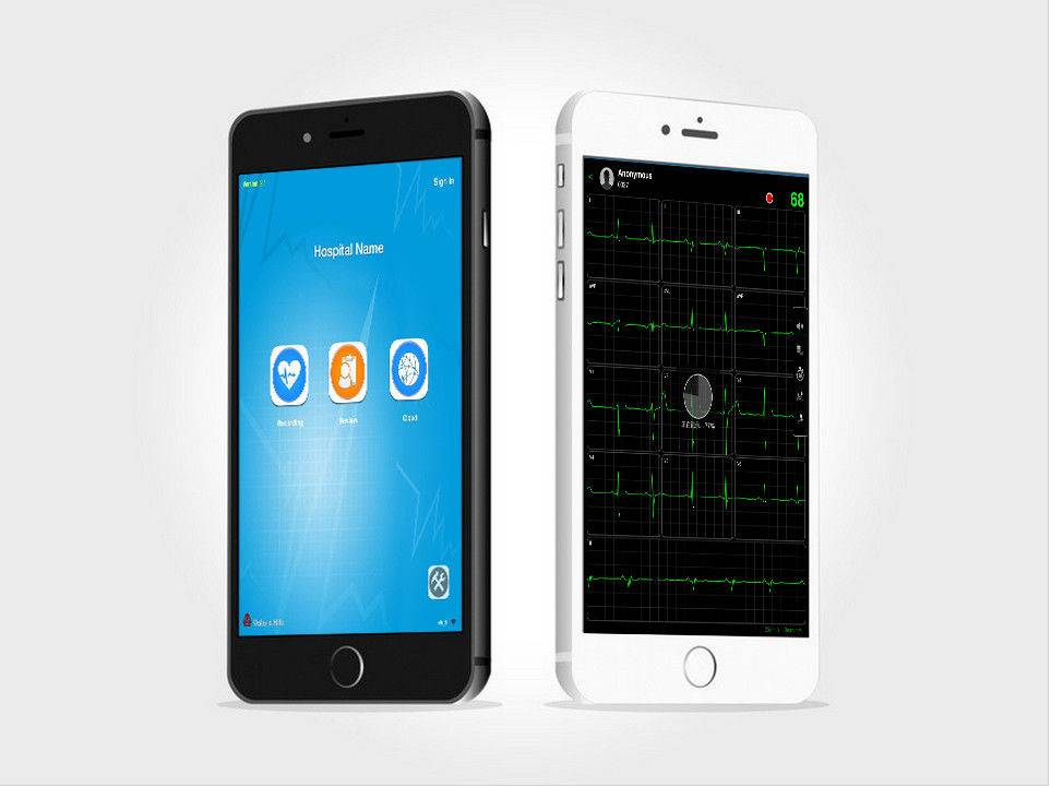 Wireless Bluetooth Mobile ECG Heart Device For Hospital Or Clinic