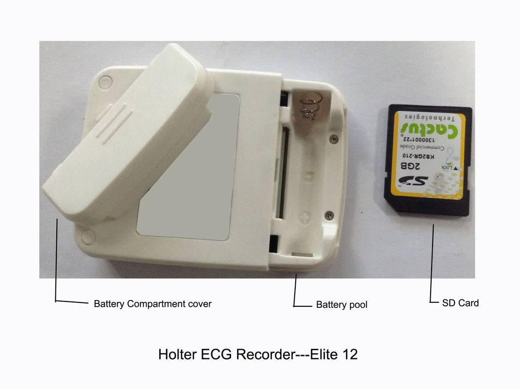 Smart Ambulatory ECG Monitoring Holter Monitor Device With SD Card Reader