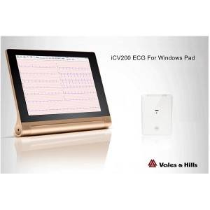 Wireless pc based resting ecg Device Bluetooth For Winpad iCV200