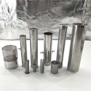 Perforated tube punch tube filter with different shape holes