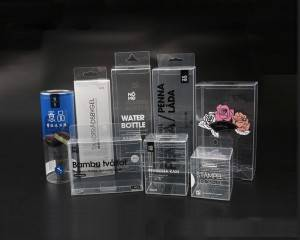 Printed Gift Clear PET Plastic Transparent Packaging Box