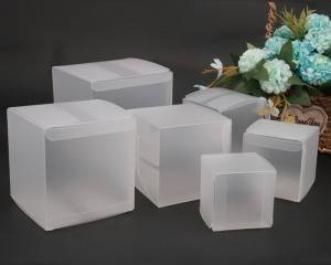 Gift packaging folding clear PET PVC PP Transparent Plastic Box matte finish