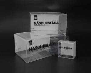 New Style Transparent Plastic PET PVC Clear Display Boxes