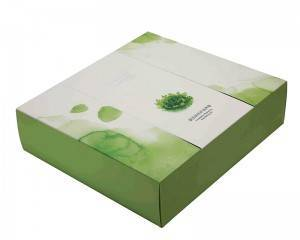 Eco Elegant Paper Cardboard Boxes Lid&Base Cosmetic Loose Powder Gift Packaging Boxes Custom Silver Foil Logo