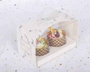 wholesale white packaging clear paper cake boxes in bulk