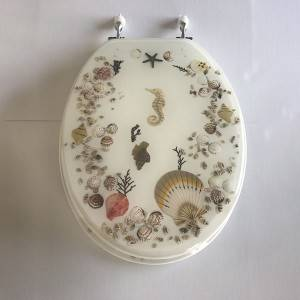 HRF–1702 17 inch Shell decorated toilet seat