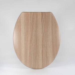 UF-A05 Duroplast Toilet Seat  – wood line surface