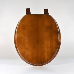 HYL-17B 17 inch round Bamboo Solid wood  Toilet seat