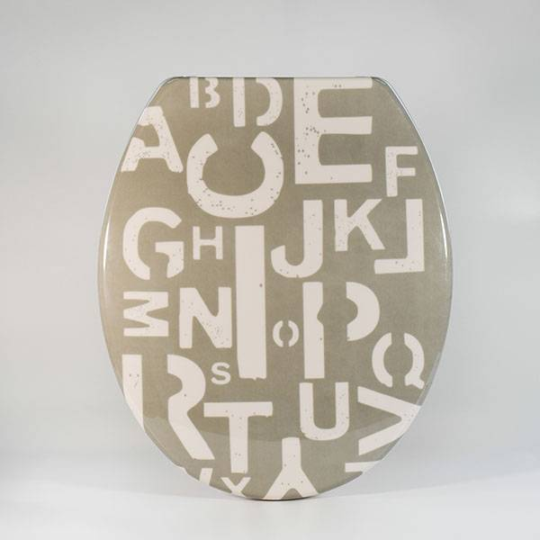 UF-P13 Duroplast Toilet Seat  Printed – Letter Type Featured Image