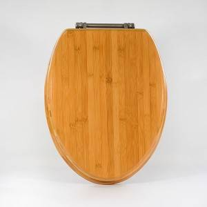 HYL-BAB19 19 inch Glossy bamboo toilet seat