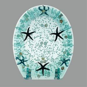 HYS-PS053 Ocan sea design Polyresin toilet seat