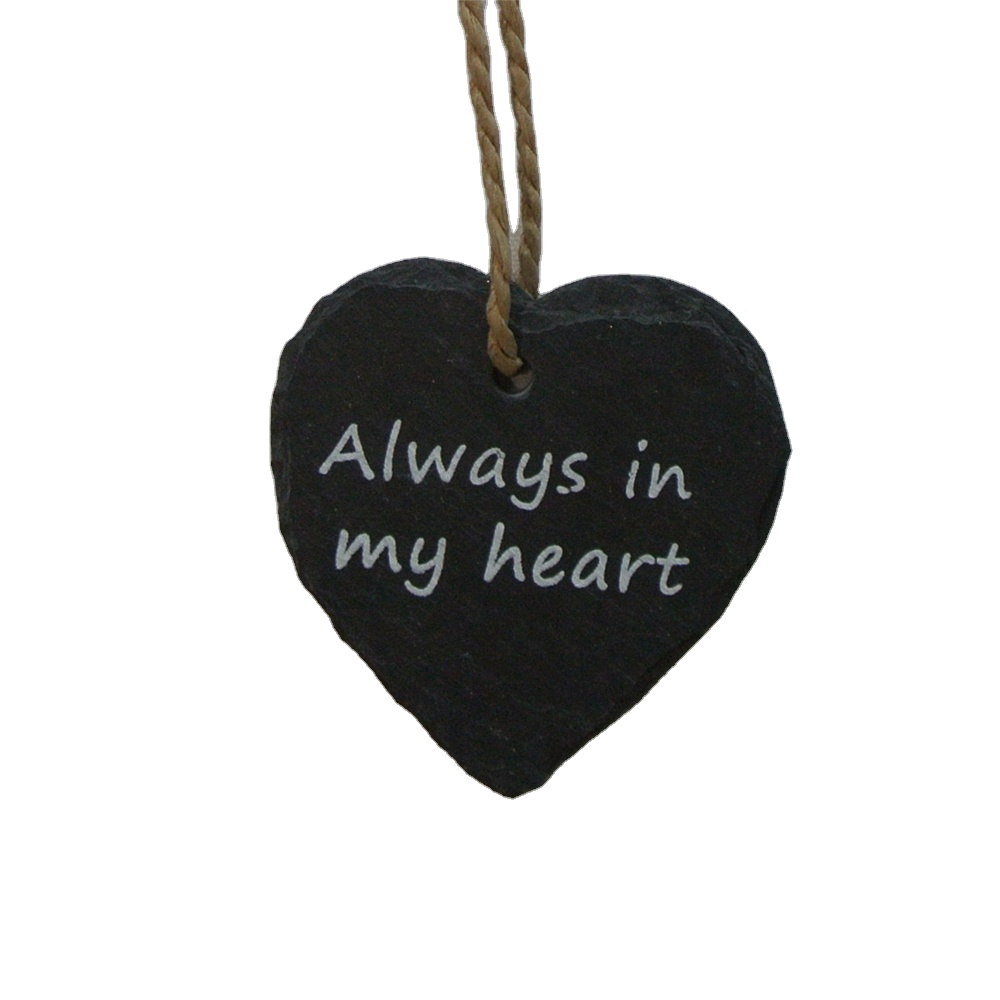Slate gifts Customized printed design   slate plaque heart shape