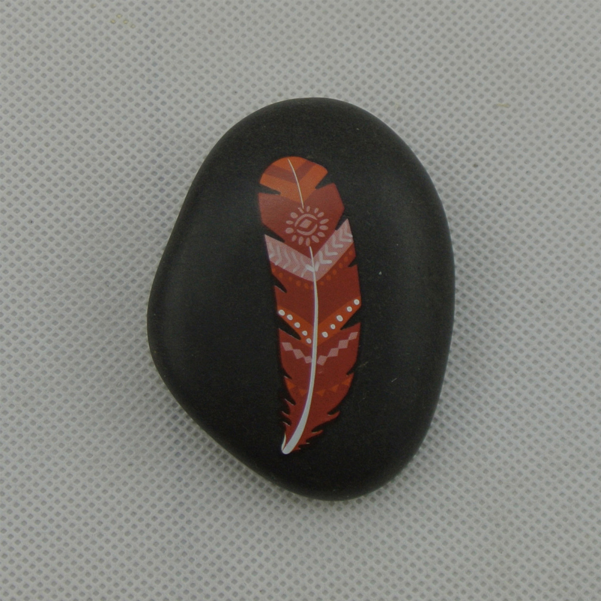 pebble stone polish river pebble with customized handpainted design pebble stone