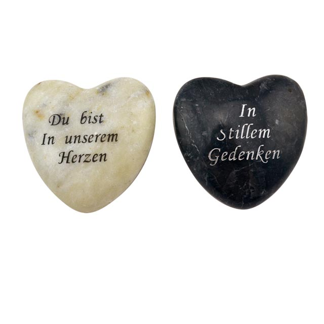 marble heart customized engravings stone paper weight