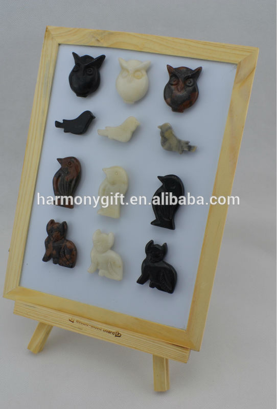 marble animal shape magnet