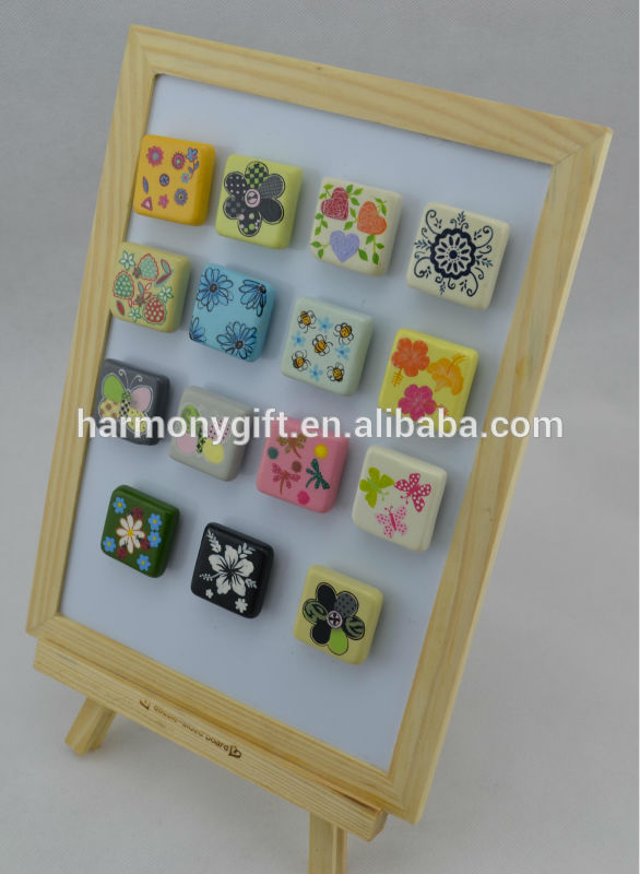 magnet with cube shape with handpainting