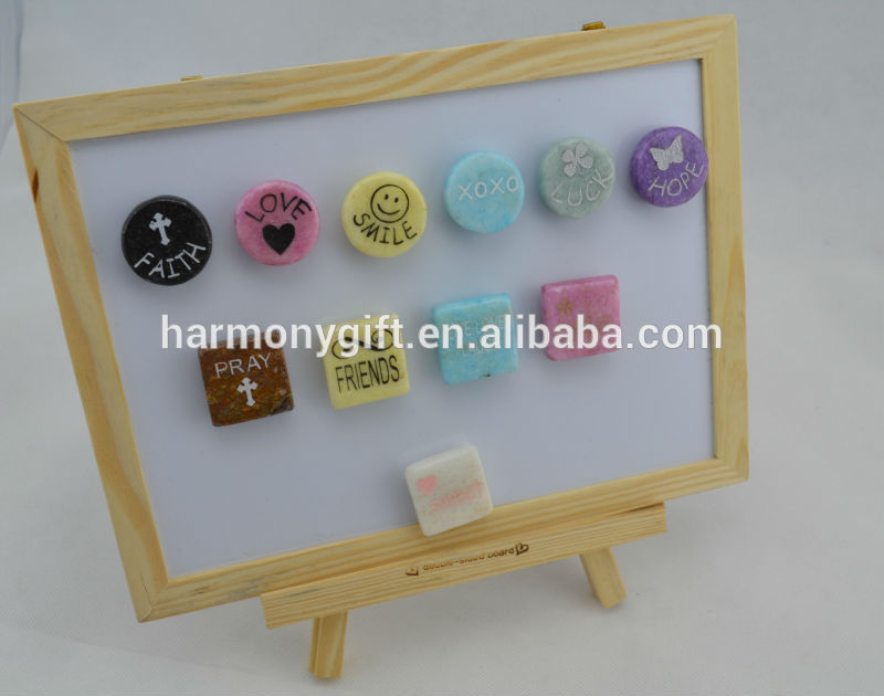 magnets with beads and cube shape with engraving