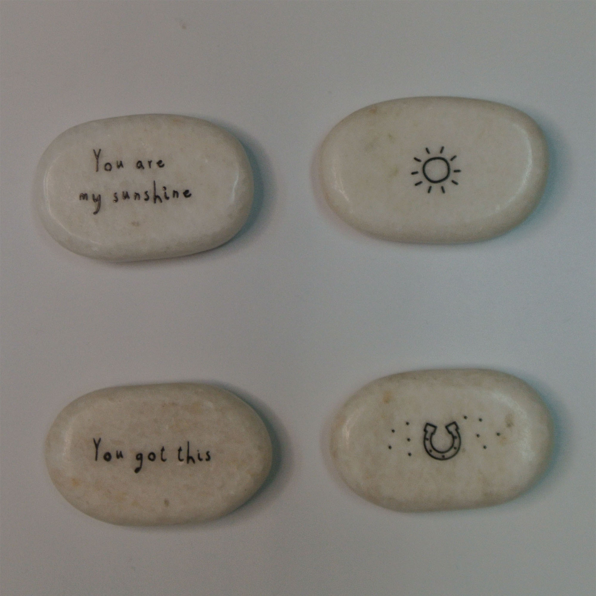 stone gift pebble stone  custom printing  pocket stone