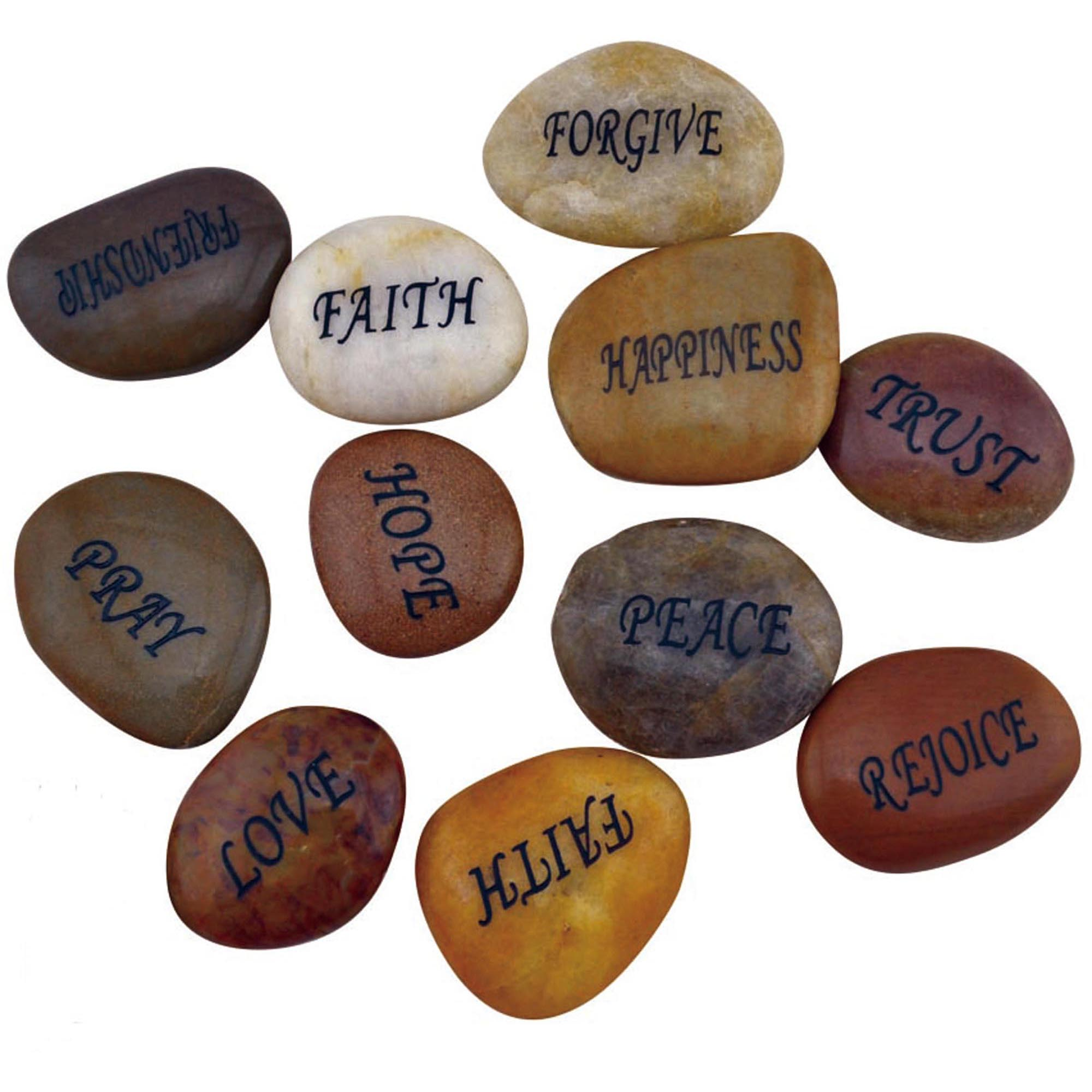 Pebble stone natural pebble with customize engravment words or designs