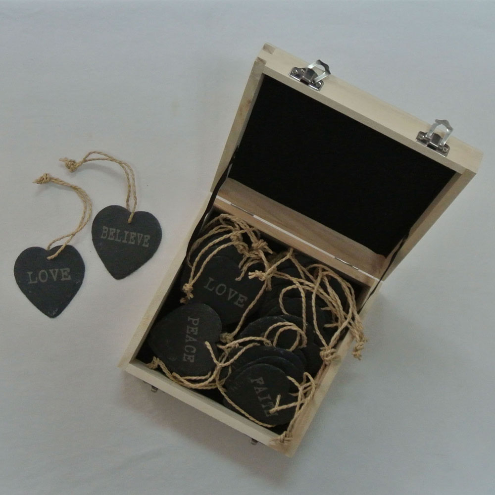 Slate gifts customized engraved design slate plaque heart shape