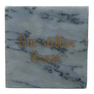 marble coaster natural stone square shape coaster with custom engraved with foot pats