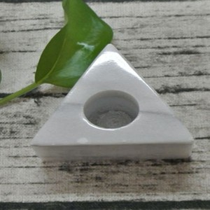 stone candle holder marble triangle shape candle holder